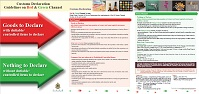 Pamphlet of Customs Declaration Guidelines on Red & Green Channel