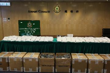 Some 776,000 tablets of pseudoephedrine, weighing 174 kilograms in total, were uncovered by Hong Kong Customs yesterday (May 30) in eight cartons of an import cargo consignment.